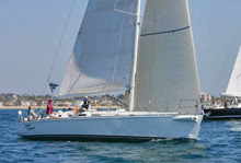 J/160 sailing Newport Cabo Race