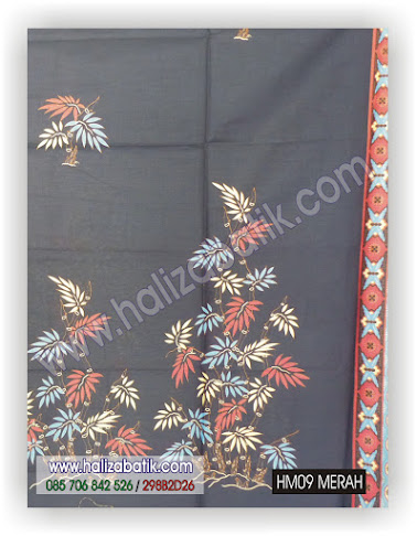 Batik Seragam Keluarga, Sarimbit Batik, Kain Untuk Batik, HM09 MERAH