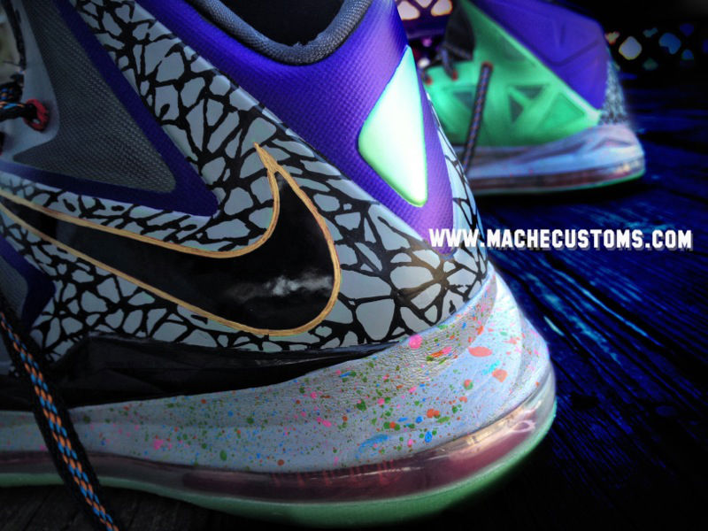 newest collection 680c9 61d29 ... Galaxy Chamber of Fear amp Mita LeBron X Customs by Mache