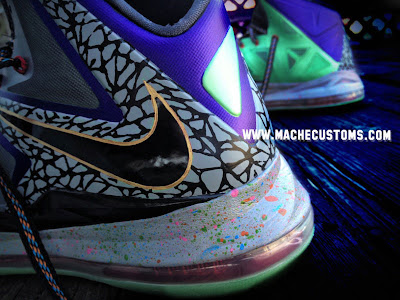 nike lebron 10 cs mache mita 1 03 Galaxy, Chamber of Fear & Mita LeBron X Customs by Mache