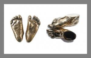Highly Polished Bronze Feet