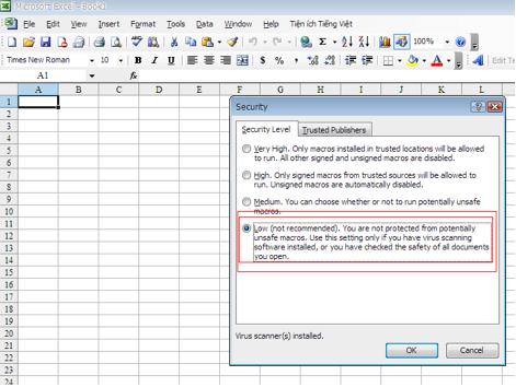 Cách kích hoạt Macro trong Microsoft Excel đơn giản 2