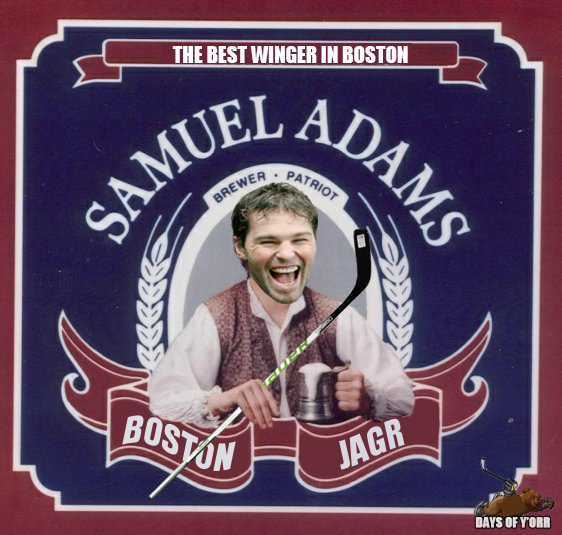 Sam Adams Boston Jagr
