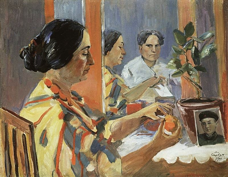 Martiros Saryan - From the artist's life (Portrait of Lusik Saryan in profile), 1941