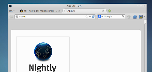 Firefox con il tema Australis