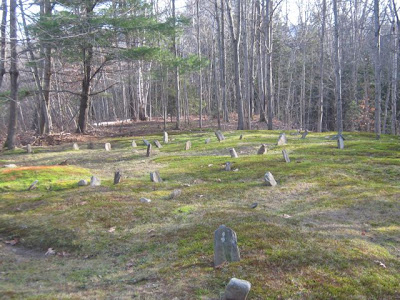 Earliest Lincolnville cemetery, fieldstone markers only, no names- located on Belfast Rd, near Joy Rd