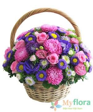 Giỏ hoa tươi Tình yêu diệu kỳ- Hoa tươi MyFlora