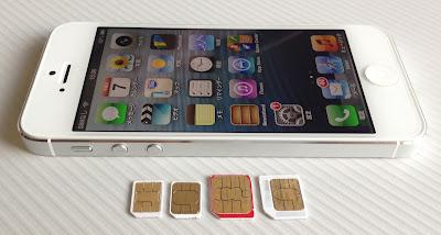 ドコモとソフトバンクのnanoSIMカード、microSIMカード