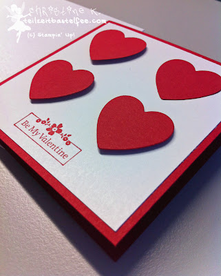 stampin up, envelope punch board, hearts a flutter, my little valentine
