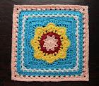 "Free Crochet Pattern - Spring Fling Square 12"""