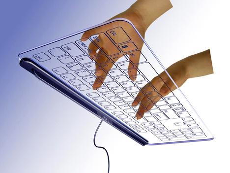 Клавиатура без кнопок.