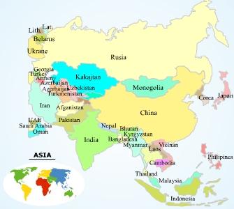 El rincn de quinto MAPA POLTICO DE ASIA