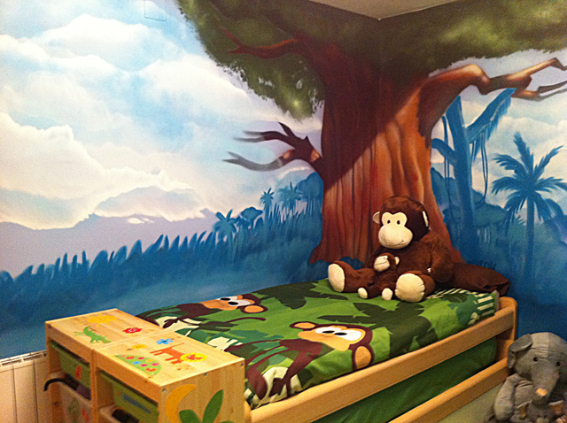 Decoracion Infantil Del Rey Leon ~ Berok Graffiti mural profesional en Barcelona Mural Rey Le?n