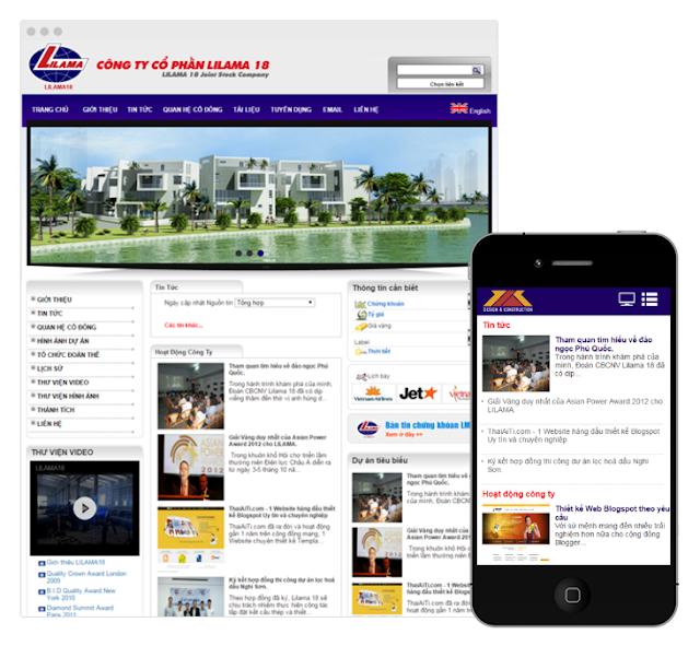 Công ty Thabidu hợp tác thiết kế website công ty cổ phần LiLama 18