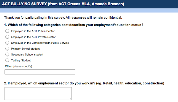 The Greens Want Your Input To Their Bullying Survey The Riotact