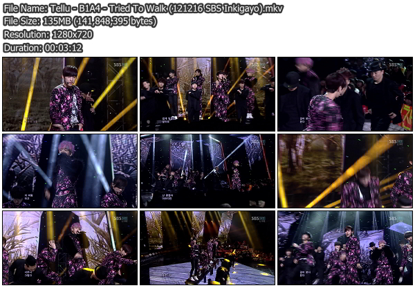 [Perf] B1A4   Tried To Walk @ SBS Inkigayo 121216