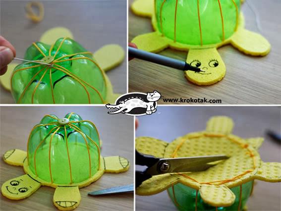 tartaruga reciclada com PET e EVA