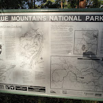 Blue Mountains NP info sign at car park (149667)