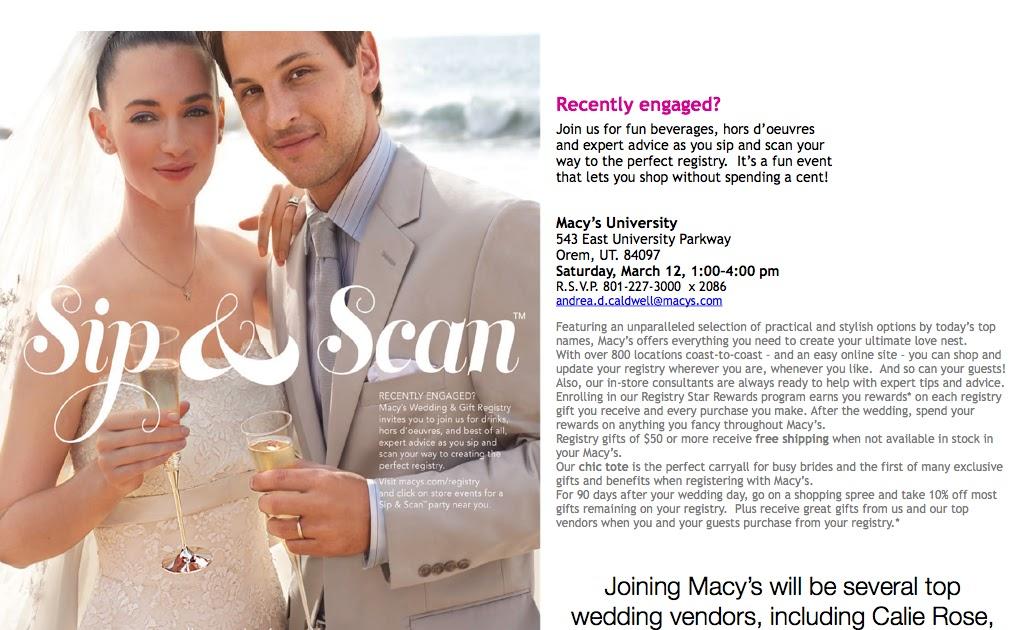 Calie Rose Utahs Top Wedding Vendors At Macys Wedding Registry Event