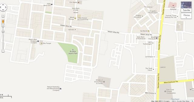 Niladri Vihar Road  BDA LN Bhubaneswar Map