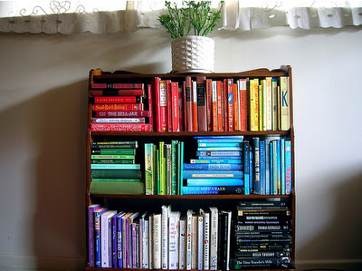 Home Inspiration Colour Coordinated Bookshelf