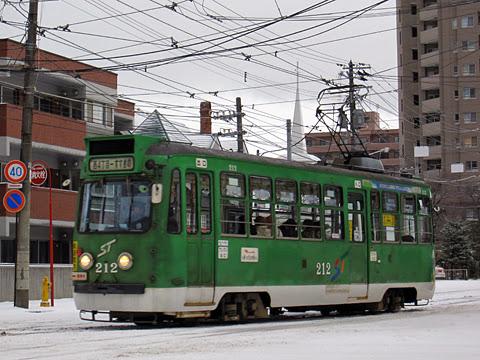 札幌市電 212号 電車事業所にて