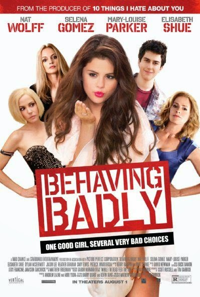 Poster Of English Movie Behaving Badly (2014) Free Download Full New Hollywood Movie Watch Online At Alldownloads4u.Com