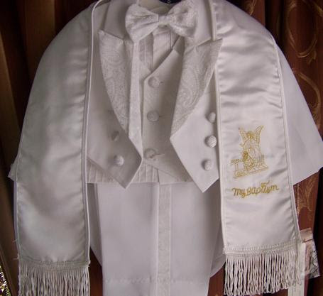 Angel EXTRA LARGE /18-24 months /Baby Boy WHITE Tuxedo tail suit rope/Christening Baptism/wedding/gold#2650G at Sears.com