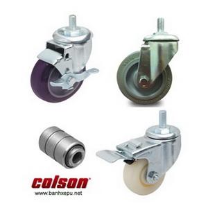 Bánh xe lắp trục ren càng bánh xe mạ kẽm chịu tải (82~122kg)