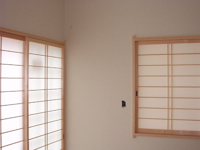 "Tow ""Shoji"" in this Japanese traditional style room"