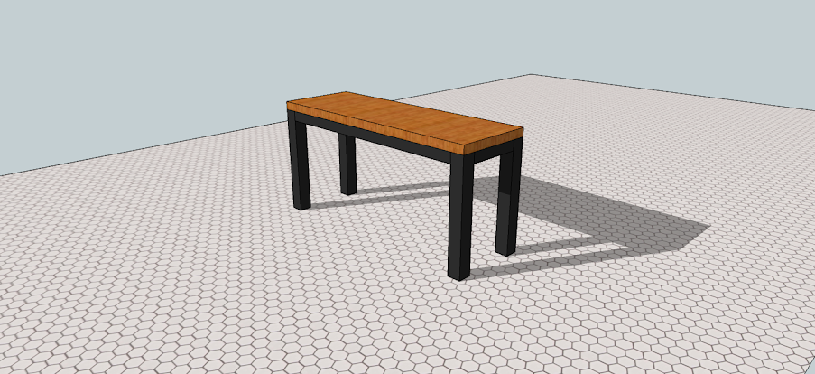 Kitchen Table SketchUp