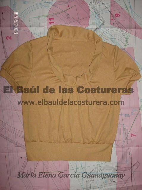 Patron molde gratis blusa
