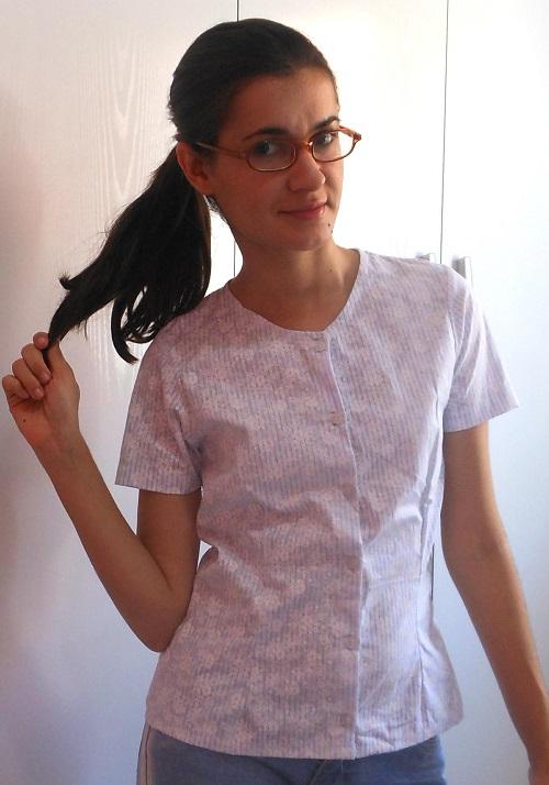 Costureira aprendiz - blusa de manga com botões