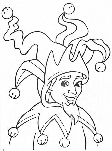 jester coloring pages - photo#12