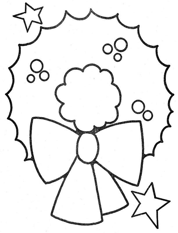 Corona de navidad adviento para colorear