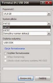 Formatowanie pendive - system plików exFAT