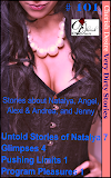 Cherish Desire: Very Dirty Stories #101, Untold Stories of Natalya 7, Natalya, Glimpses 4, Angel, Pushing Limits 1, Alexi & Andrea, Program Pleasures 1, Jenny, Max, erotica