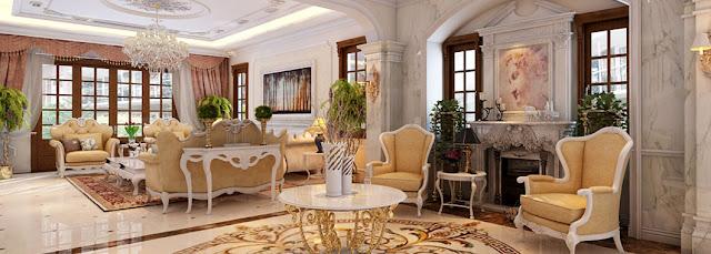Thiết kế phòng khách biệt thự liền kề Louis City