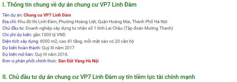 Chung cư VP7 Linh Đàm - Dự án chung cư giá rẻ HOT nhất 2016 - 2