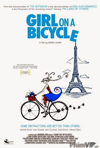 Cô Gái Trên Chiếc Xe Đạp - Girl On A Bicycle poster