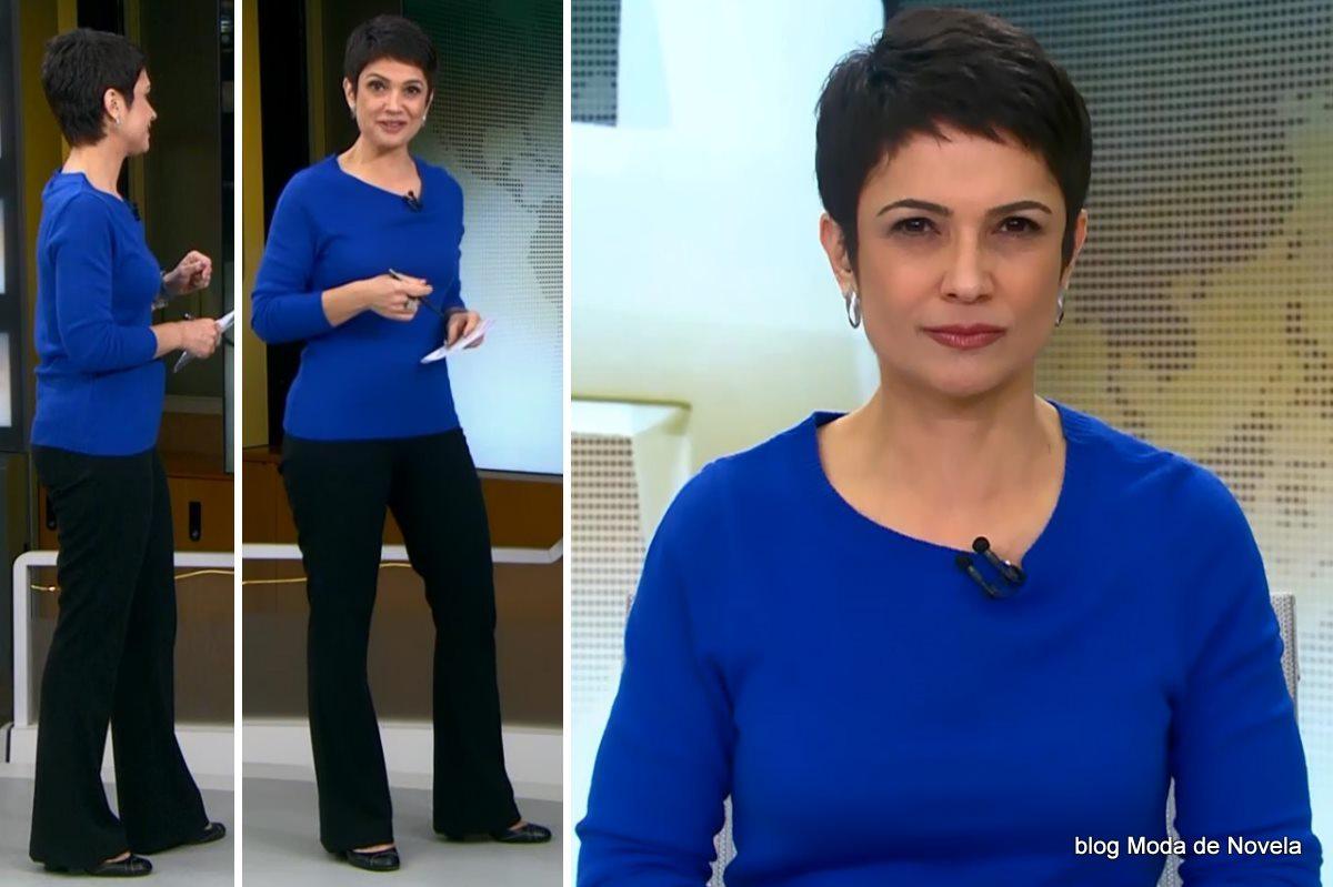moda do programa Jornal Hoje - look da Sandra Annenberg dia 19 de junho