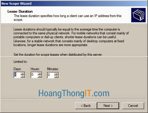 Tạo DHCP Exclusions
