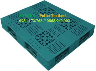 Pallet nhựa mặt lưới nhập khẩu