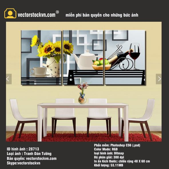 Tranh trang trí nhà hàng - Rượu Bia -  phòng khách - Thế giới tranh tường đẹp
