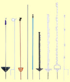 various types of electric fence posts