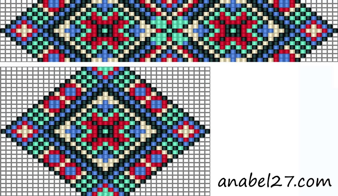схема гердана free bead loom pattern