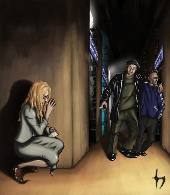 Иллюстрация к рассказу, (А.Куцеволов)