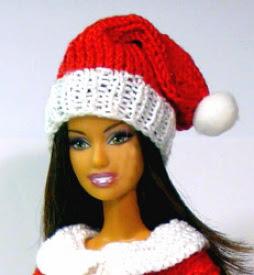 Шапка Санта-Клауса для Барби