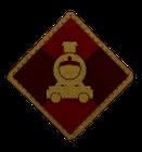 Distintivo Locomotiva Scarlatta