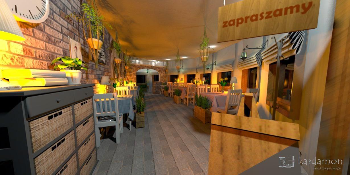 Pizzeria z salą jadalną 40m2, inspirowana charakterem włoskich uliczek